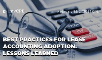Best Practices for Lease Accounting Adoption: Lessons Learned