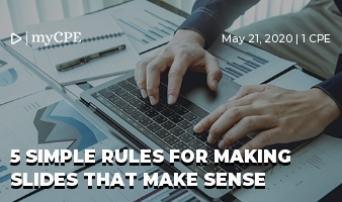 5 Simple Rules For Making Slides That Make Sense