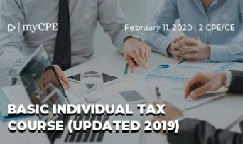 Basic Individual Tax Course (Updated 2019)