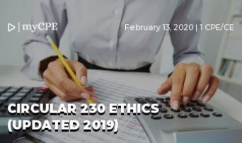 CIRCULAR 230 ETHICS (UPDATED 2019)