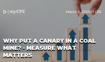 Why Put a Canary in a Coal Mine? - Measure what matters