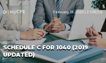 SCHEDULE C FOR 1040 (2019 Updated)