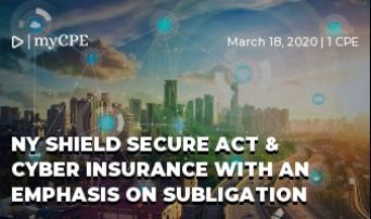 NY SHIELD Secure Act & cyber insurance with an emphasis on Subligation