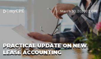 Practical update on new lease accounting