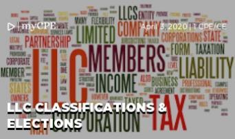 LLC Classifications & Elections