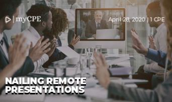 Nailing remote presentations