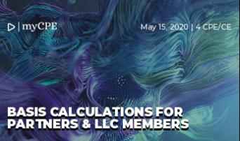 Basis Calculations for Partners & LLC Members