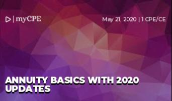 Annuity Basics with 2020 updates