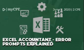Excel Accountant - Error Prompts Explained