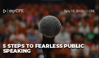 5 steps to Fearless Public Speaking