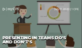 Presenting in Teams Do's and Don't's