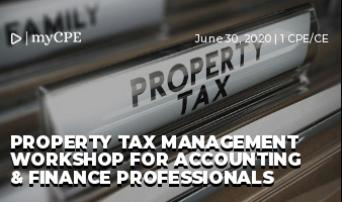 Property Tax Management Workshop for Accounting & Finance Professionals