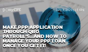 Make PPP Application through QBO Payroll's...and how to manage your PPP Loan once you get it!
