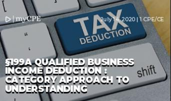 §199A Qualified Business Income Deduction : Category Approach to Understanding