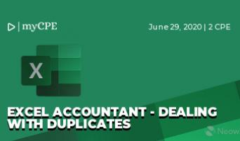 Excel Accountant - Dealing with Duplicates