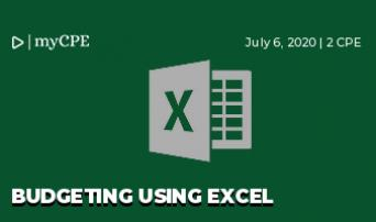 Budgeting using Excel