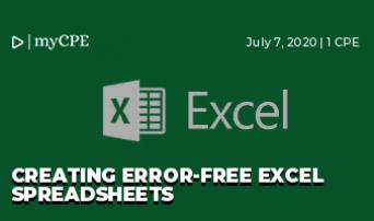 Creating Error-Free Excel Spreadsheets