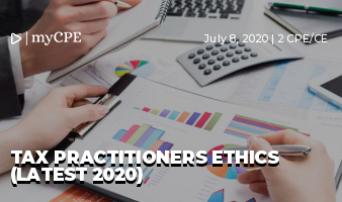 TAX PRACTITIONERS ETHICS (LATEST 2020)