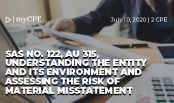 SAS No. 122, AU 315, Understanding the Entity and Its Environment and Assessing the Risk of Material Misstatement