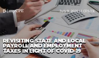 Revisiting State and Local Payroll and Employment Taxes in Light of COVID-19