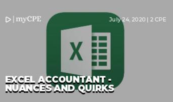 Excel Accountant - Nuances and Quirks