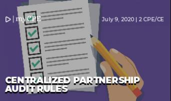 Centralized Partnership Audit Rules