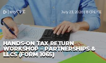 Hands-On Tax Return Workshop – Partnerships & LLCs (Form 1065)