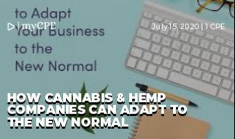 How Cannabis & Hemp Companies can adapt to the New Normal