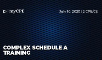 Complex Schedule A Training