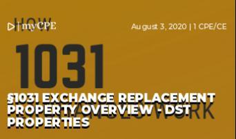 §1031 EXCHANGE REPLACEMENT PROPERTY OVERVIEW - DST PROPERTIES
