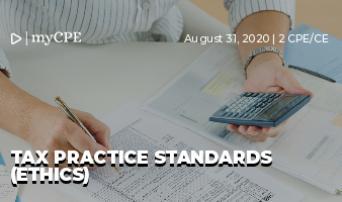 TAX PRACTICE STANDARDS (ETHICS)