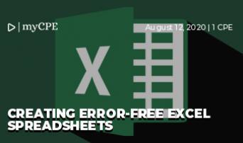 Creating Error-Free Excel Spreadsheets