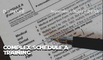 Complex Schedule A Training