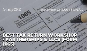BEST TAX RETURN WORKSHOP - PARTNERSHIPS & LLCS (FORM 1065)