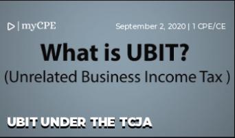 UBIT Under The TCJA