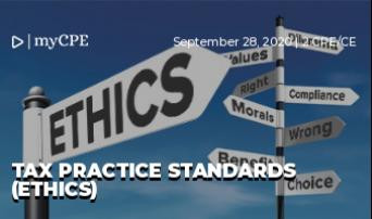 TAX PRACTICE STANDARDS (ETHICS)