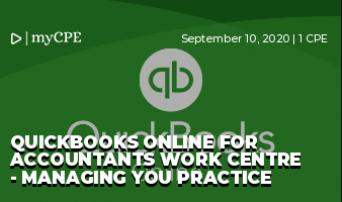 Quickbooks Online for Accountants Work Centre - Managing you Practice