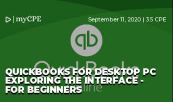 Quickbooks for Desktop PC Exploring the Interface - For Beginners