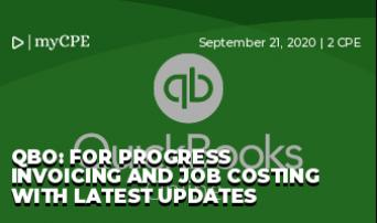 QBO: For Progress Invoicing and Job Costing with Latest Updates