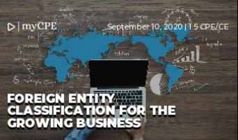 Foreign Entity Classification For The Growing Business