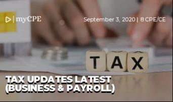 Tax Updates Latest (Business & Payroll)