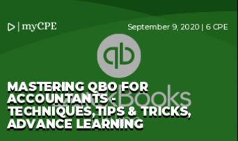Mastering QBO For Accountants - Techniques,Tips & Tricks, Advance Learning