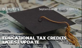Educational Tax Credits Latest Update