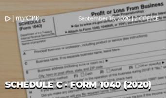 Schedule C - Form 1040 (2020)