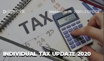 Individual Tax Update 2020