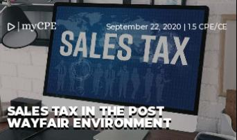 Sales Tax in the Post Wayfair Environment