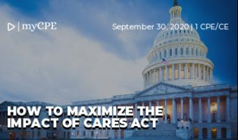 How to Maximize the impact of cares act