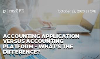 Accounting application versus accounting platform - what's the difference?