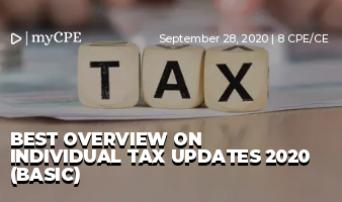 Best Overview on Individual Tax Updates 2020 (Basic)