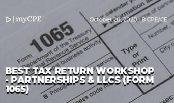 BEST TAX RETURN WORKSHOP - PARTNERSHIPS & LLCS (FORM 1065)